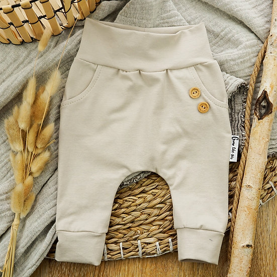 Baggypants, Babyhose, Handmadehose, Pumphose Neutrale Babykleidung