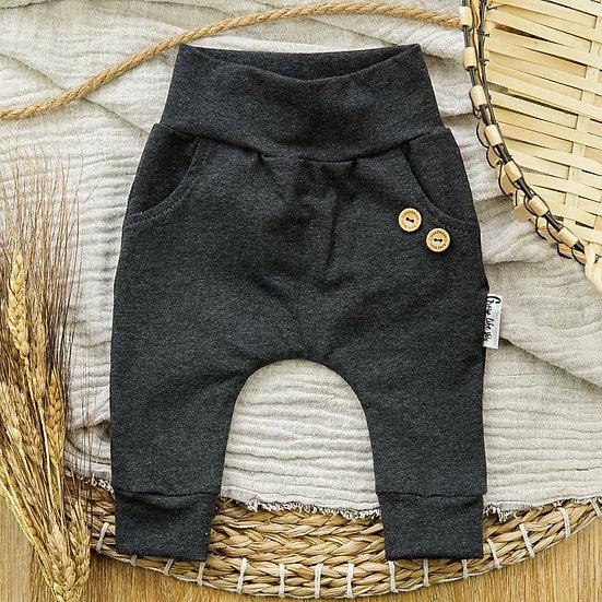 Pants, Baggypants, Babyhose, Pumphose, Kinderhose, Dunkelgraue Hose, Slimharem