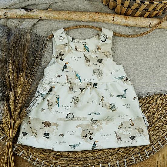 Kleid Safari, Kinderkleid, mädchenkleid