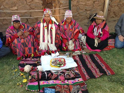Q'ero Shamans Preparing Despacho (prayer bundle)