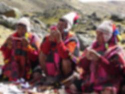 Q'ero Shamans Performing Ceremony