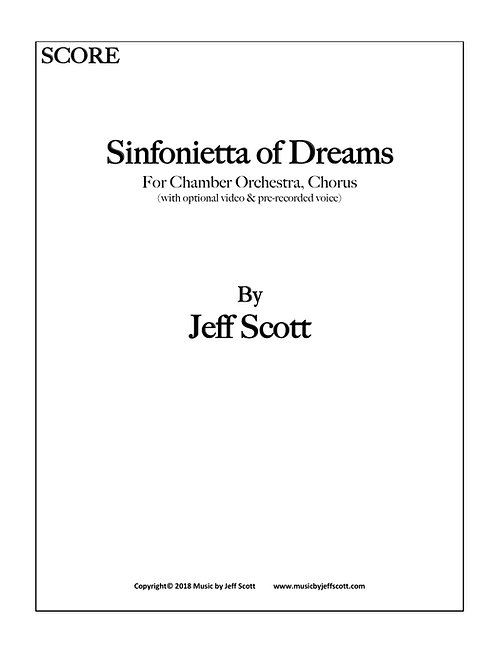 Sinfonietta of Dreams (RENTAL ONLY)