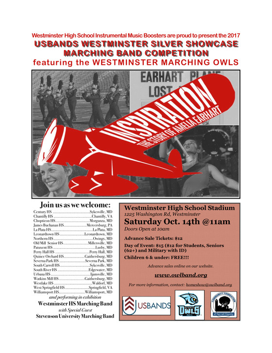 Westminster HS Band Competition