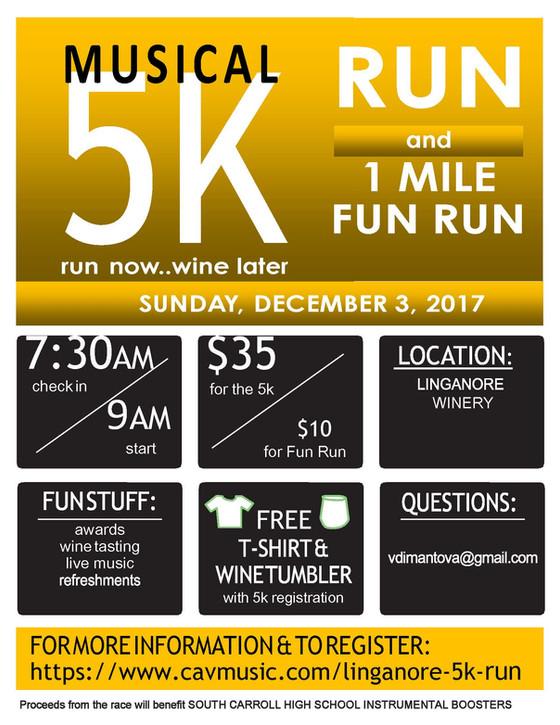Linganore 5K - Sunday, December