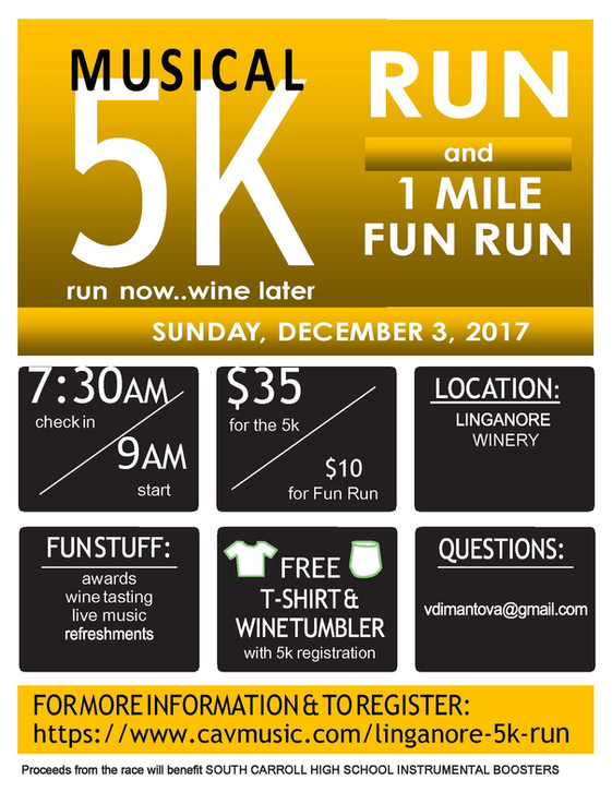 Linganore 5K - Sunday, December