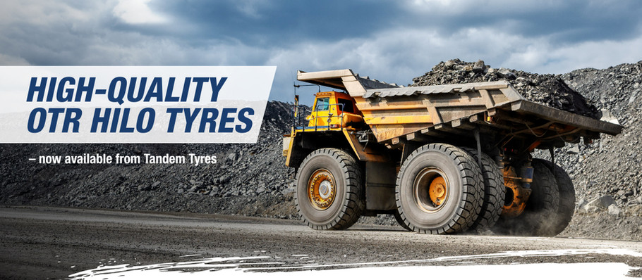 Hilo's range of high-quality OTR tyres is now available directly from Tandem Tyres
