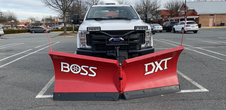 Truck with Plow Ready for Snow Removal