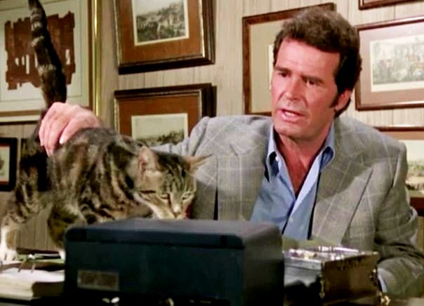 JIM ROCKFORD AND KITTY CAT