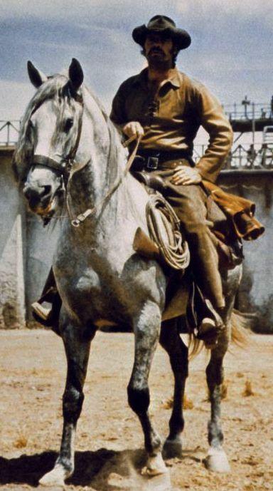 JAMES GARNER ON HORSEBACK