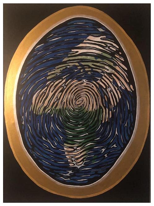 Aboriginal Thumbprint 30x40in