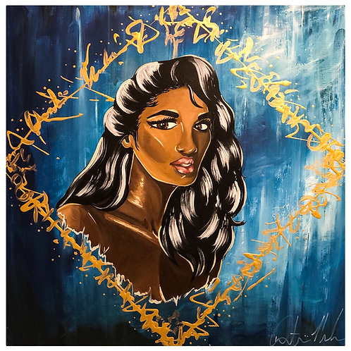 Ambitious Girl 24x24in