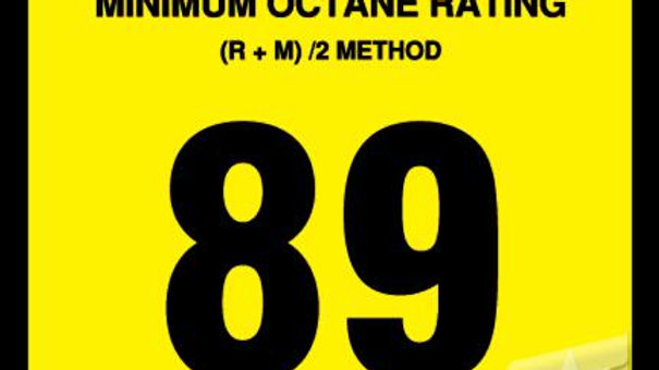 OR-89 Advantage Octane Sticker, 89