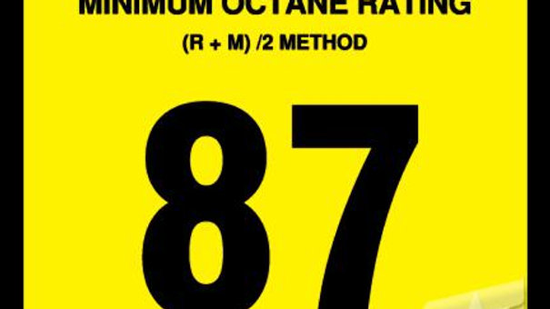 OR-87 Advantage Octane Sticker, 87