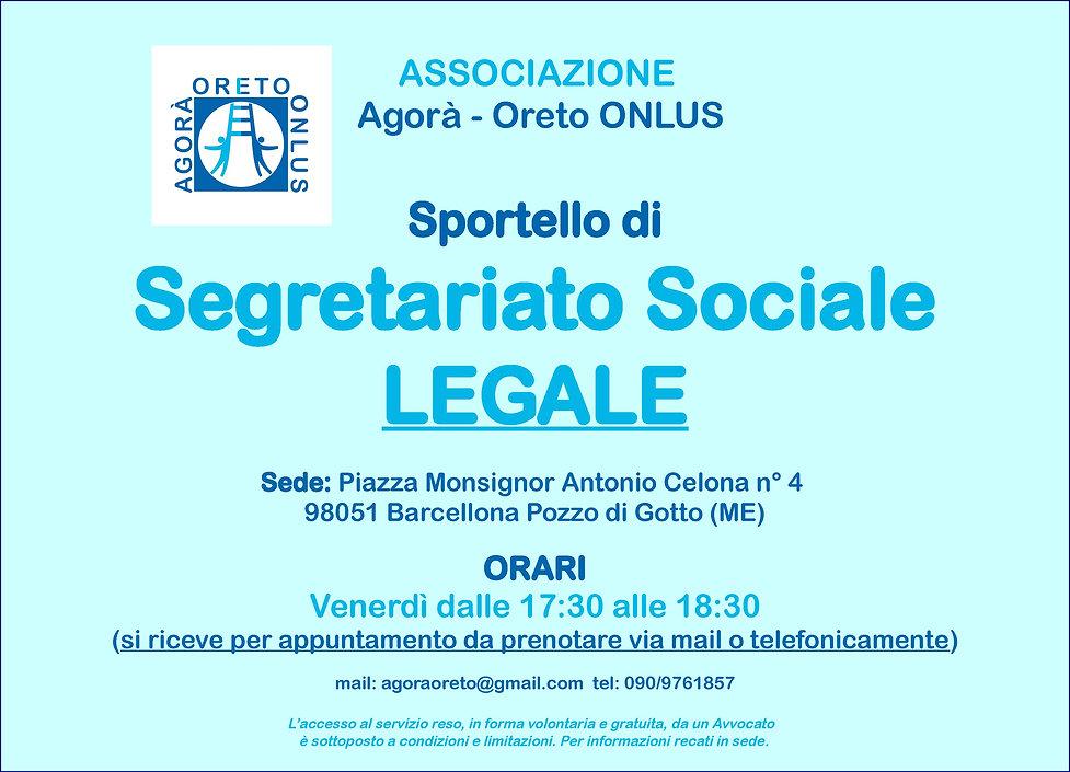 Locandina_Segretariato_SocLeg_Agorà_Oret