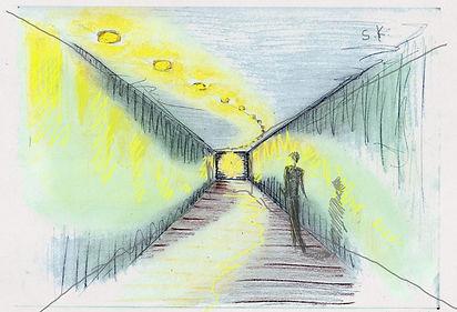 Skizze Zeichnung Flurbeleuchtung Ochtersum