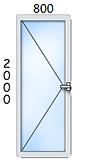ал. врата 800/2000