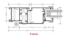 Алтест висока каса Z крило врата