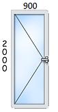 ал. врата 900/2000