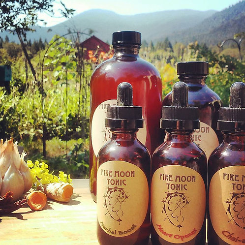 Fire Moon Tonic | Immune Support | Cold & Flu Aid | Herbal Vinegar Cider | Suppo