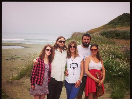 The old Harold's IGA on the California coast: Holly McGarry, Erin Brannigan, Jen Landis, Ben Olson, Cadie Archer