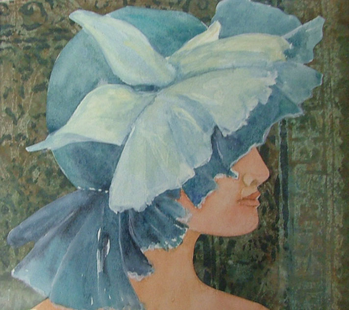 Girl in the Blue Hat