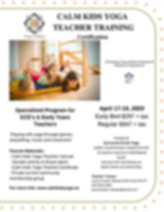 Generic Flyer Poster  Calm Kids Yoga Tea