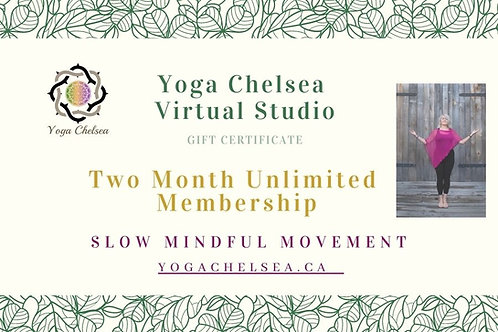 Two Month Unlimited Membership - Yoga Chelsea Virtual Studio