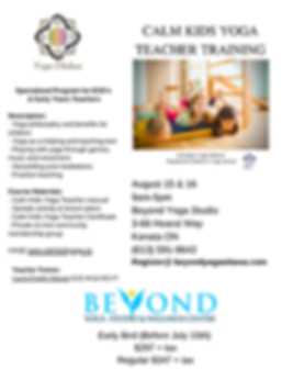 Copy of Flyer Calm Kids Yoga Teacher Tra