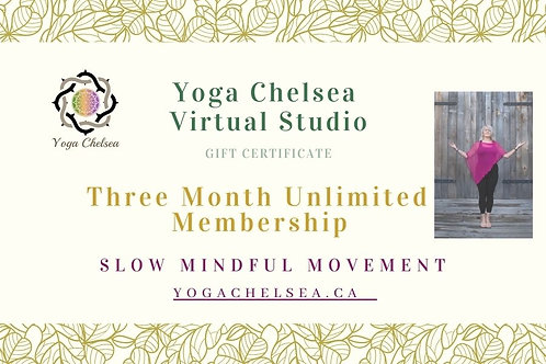 Three Month Unlimited Membership - Yoga Chelsea Virtual Studio