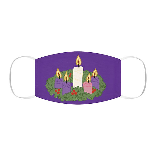 Advent Wreath Snug-Fit Polyester Face Mask