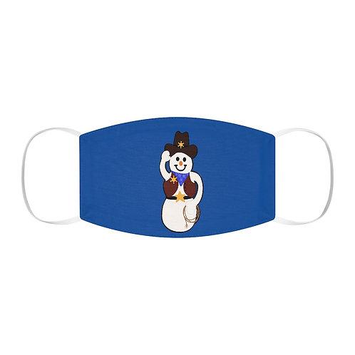 Cowboy Snowman Snug-Fit Polyester Face Mask