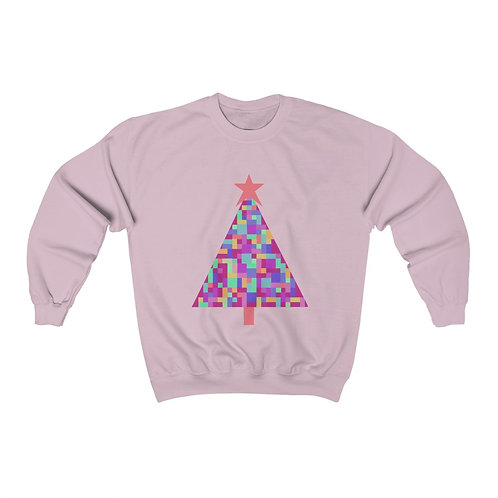 Digital Christmas Tree Unisex Heavy Blend™ Crewneck Sweatshirt