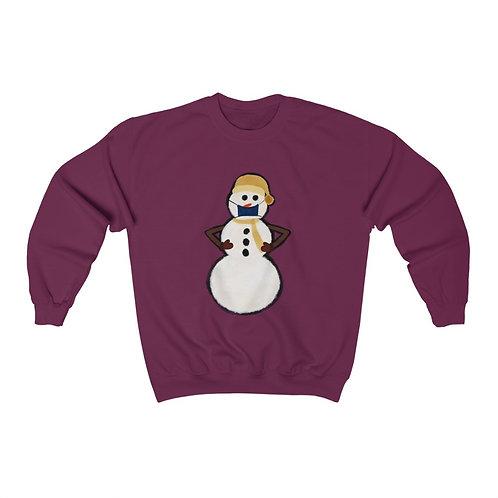 Snowman with Mask Unisex Heavy Blend™ Crewneck Sweatshirt