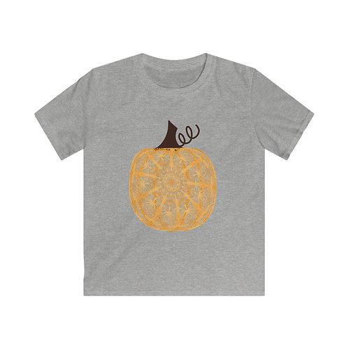 Kids Zen Doodle Pumpkin Softstyle Tee