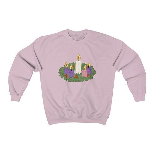 Advent Wreath Unisex Heavy Blend™ Crewneck Sweatshirt