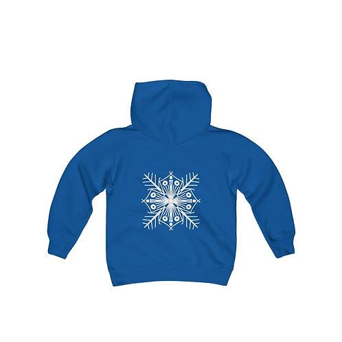 Snowflake Youth Heavy Blend Hooded Sweatshirt