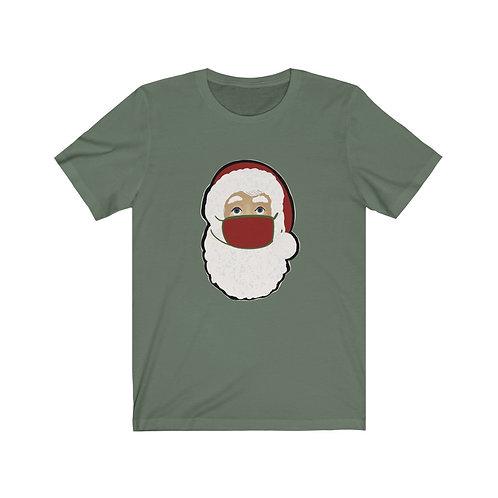 Santa with Mask Unisex Jersey Short Sleeve Tee