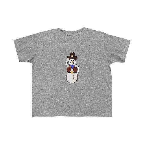 Cowboy Snowman Kid's Fine Jersey Tee