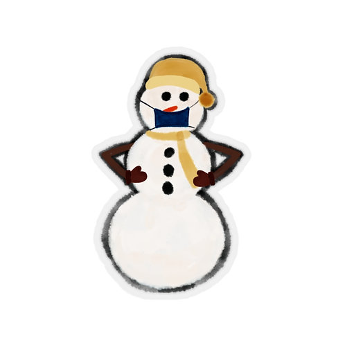 Snowman With Mask Sticker