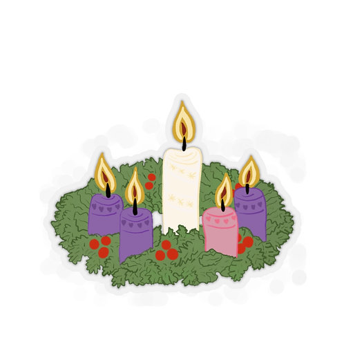 Advent Wreath Stickers
