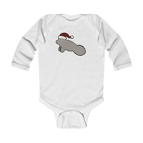 Manatee Infant Long Sleeve Bodysuit