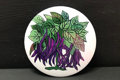 "2.25"" Purple bean magnet"