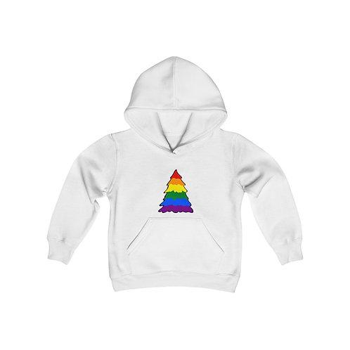 Rainbow Tree Youth Heavy Blend Hooded Sweatshirt