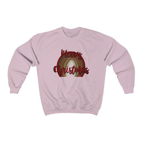 Merry Christmas Rainbow Unisex Heavy Blend™ Crewneck Sweatshirt