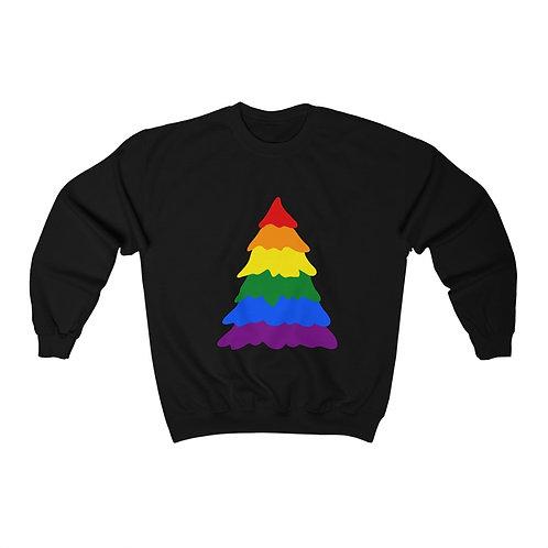 Rainbow Tree Unisex Heavy Blend™ Crewneck Sweatshirt