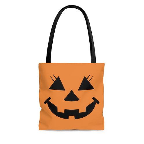 Lady Pumpkin Tote Bag