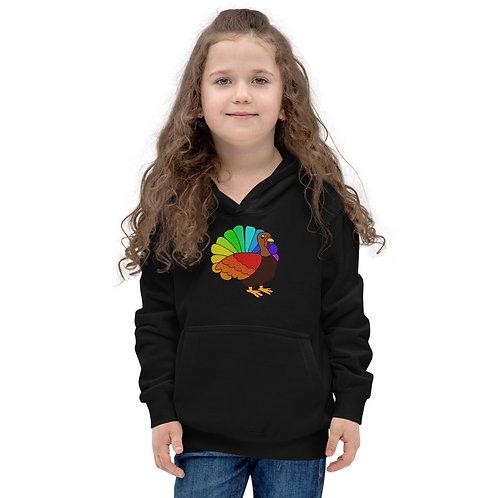 Kids Hoodie Rainbow Turkey