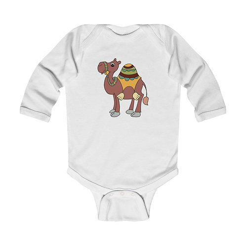Camel Infant Long Sleeve Bodysuit