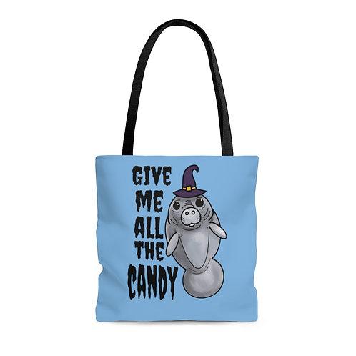 Manatee Halloween Tote Bag