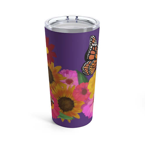Flower and Butterfly Tumbler 20oz